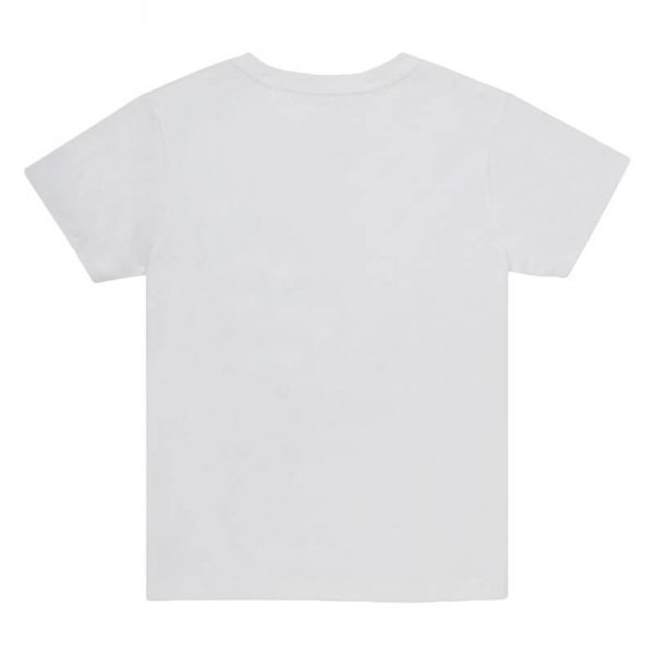 Kids White Crew T-shirt Back View