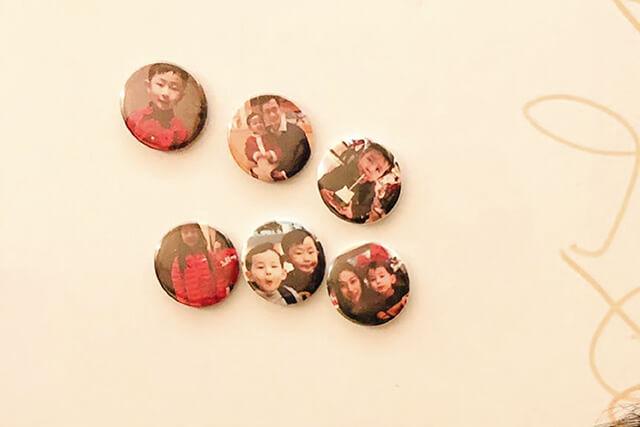 custom magnet button