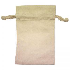 Mini Canvas Drawstring Bag Back View