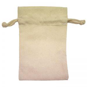 Mini Canvas Drawstring Bag Front View