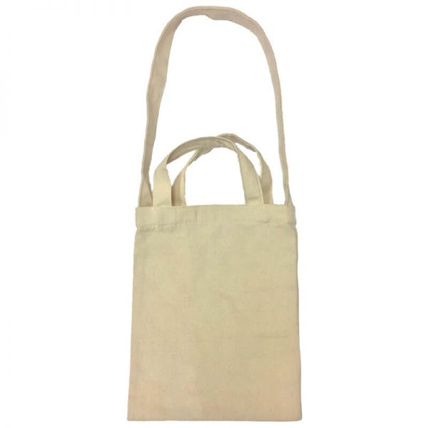 Custom your Mini Canvas Tote-Bag Front View