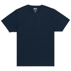 Unisex Navy Blue Crew T-shirt Front