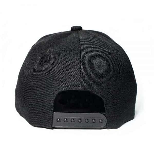 Custom and Embroider your Black Cap Back View