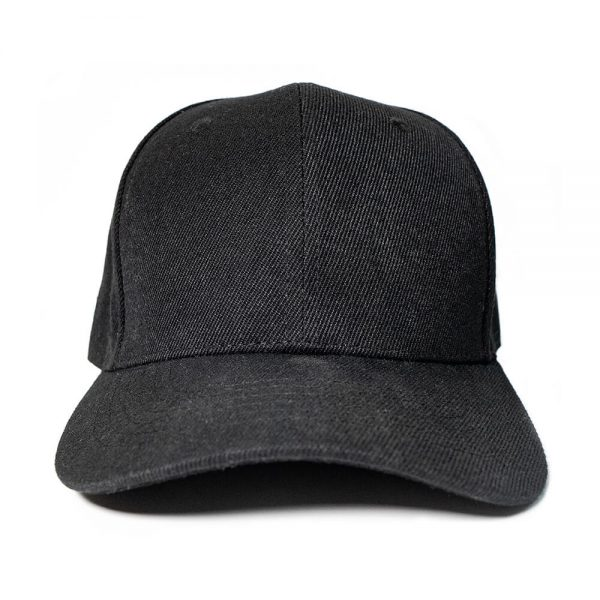 Custom and Embroider your Black Cap Front View