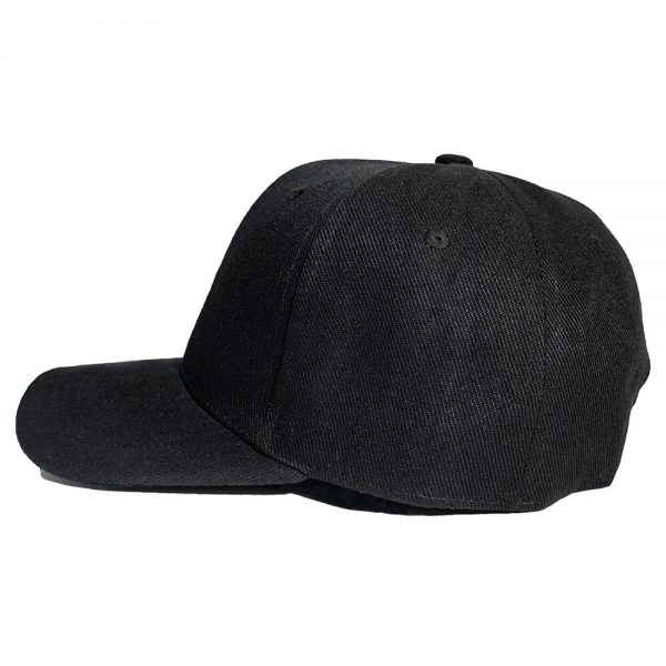 Custom and Embroider your Black Cap Left View
