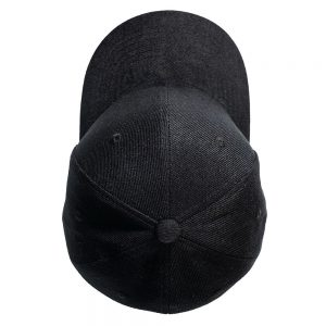 Custom and Embroider your Black Cap Top View