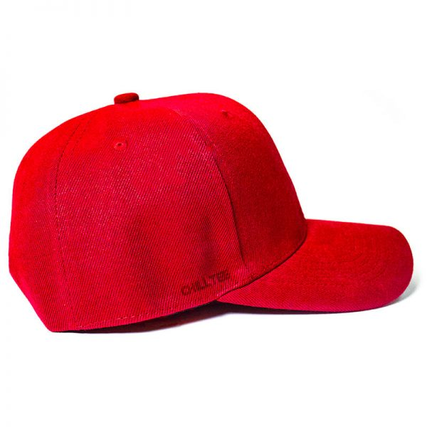 Custom and Embroider your Red Cap Right View