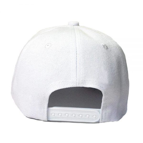 Custom and Embroider your White Cap Back View