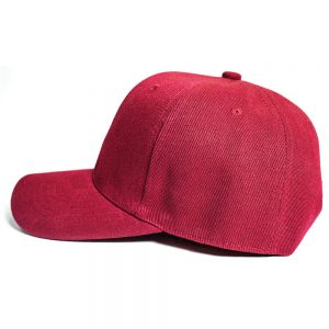 Custom and Embroider your Wine Red Cap Left View