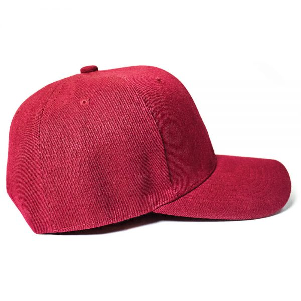 Custom and Embroider your Wine Red Cap Right View