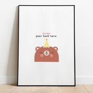 Hello Bear Tote-bag Thumbnail, Custom our iTee template and make it yours.