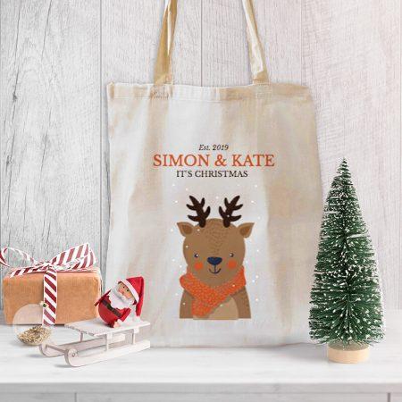 Deer Christmas Tote-bag