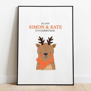 Deer Christmas Tote-bag Thumbnail, Custom our iTee template and make it yours.