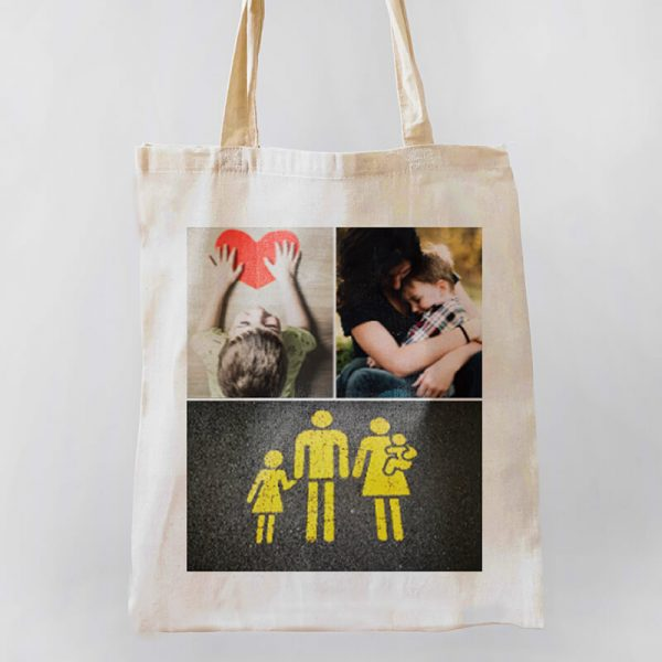 3 Photo Collage Canvas Tote-bag Freesize, Custom our iTee template and make it yours. Product View