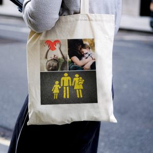 3 Photo Collage Canvas Tote-bag Freesize, Custom our iTee template and make it yours. Model View