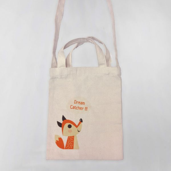 Dream Catcher Mini Canvas Tote-bag, Custom our iTee template and make it yours. Product View