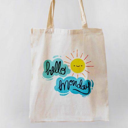 Hello Monday Tote-bag