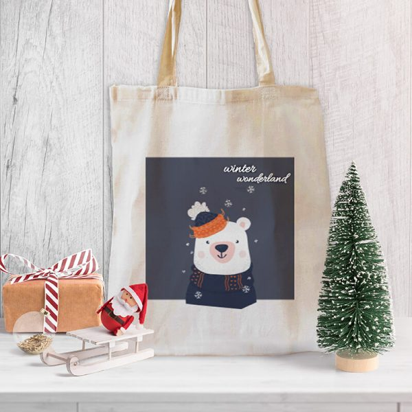Winter Wonderland Canvas Tote-bag Freesize, Custom our iTee template and make it yours. Product View