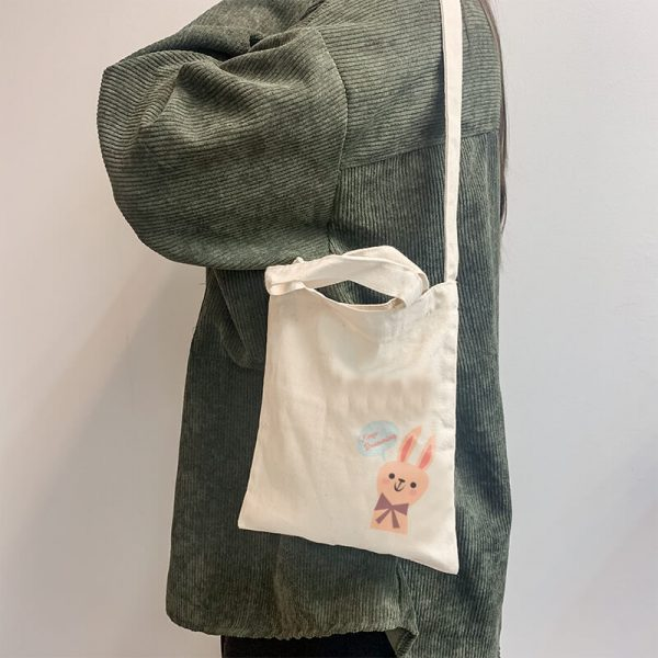 Keep Dreaming Mini Canvas Tote-bag, Custom our iTee template and make it yours. Model View