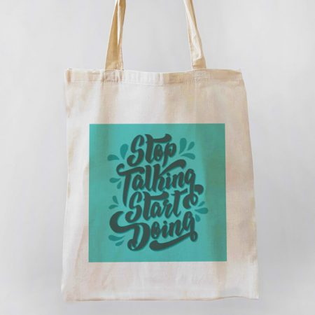 Stop Talking, Start Doing Tote-bag