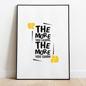 The More You Learn, The More You Earn Tote-bag Thumbnail, Custom our iTee template and make it yours.