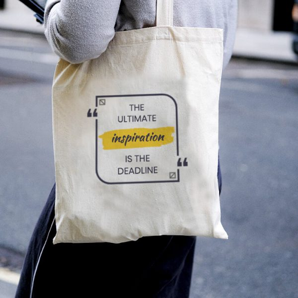 The Ultimate Inspiration Canvas Tote-bag Freesize, Custom our iTee template and make it yours. Model View