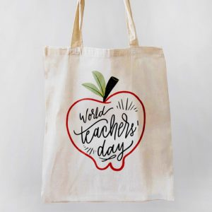 World's Teacher Day Canvas Tote-bag Freesize, Custom our iTee template and make it yours. Product View