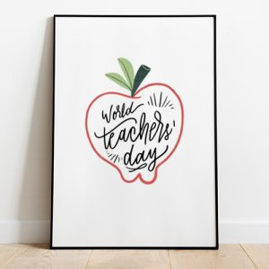 World Teacher's Day Tote-bag Thumbnail, Custom our iTee template and make it yours.