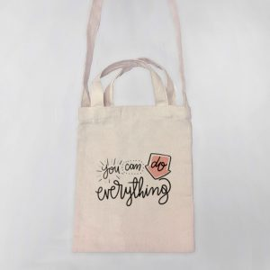 You Can Do Anything Mini Canvas Tote-bag, Custom our iTee template and make it yours. Product View