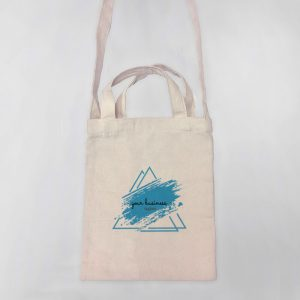 Your Business Tagline Mini Canvas Tote-bag, Custom our iTee template and make it yours. Product View