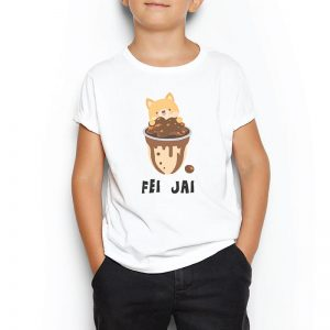 Custom your Share your boba tee Instruction White T-shirt Template, Boy Model View