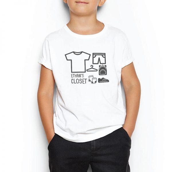 Custom your I'm a Moving Closet White T-shirt Template, Boy Model View