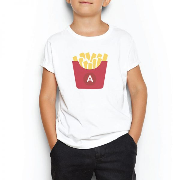 Custom your Gimme French Fries White T-shirt Template,Boy Model View