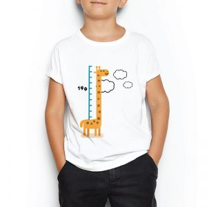 Custom your How Tall Am I? White T-shirt Template,Boy Model View