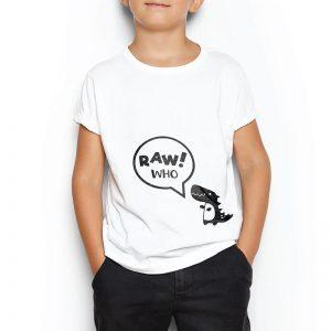 Custom your Rawr! Who? White T-shirt Template, Boy Model View