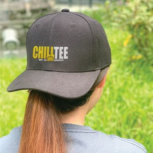 ChillTee Logo Black Embroidered Cap, Custom our iTee template. Model View
