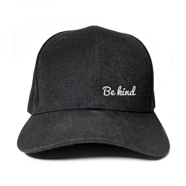Be Kind in Black Embroidered Cap, Custom our iTee template and make it yours. Product View