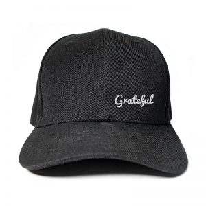 Grateful in Black Embroidered Cap, Custom our iTee template and make it yours. Product View