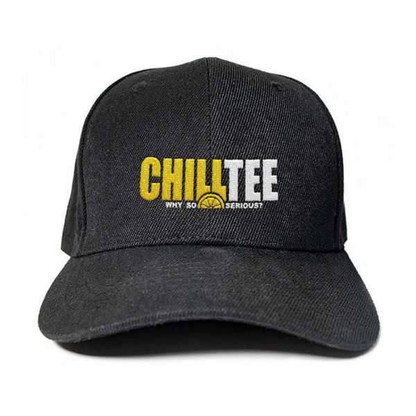 ChillTee Logo in Black Embroidered Cap, Custom our iTee template. Product View