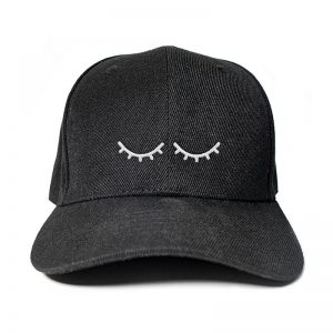 I'm Sleeping in Black Embroidered Cap, Custom our iTee template and make it yours. Product View