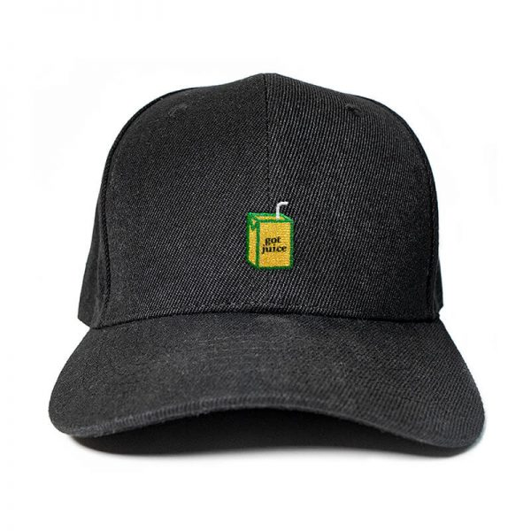 Got Juice? in Black Embroidered Cap, Custom our iTee template and make it yours. Product View