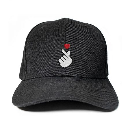 Finger Heart Embroidered Cap