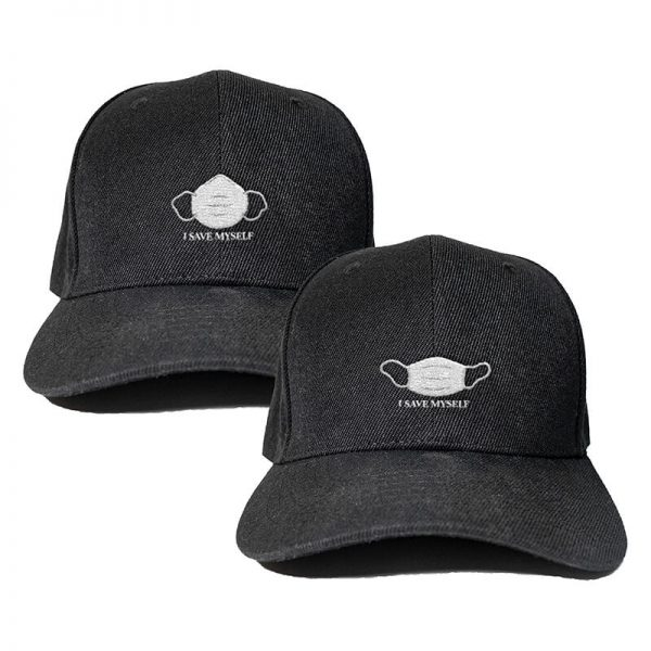 I Save Myself Series in Black Embroidered Cap, Custom our iTee template and make it yours. Product View