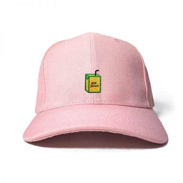 Got Juice? in Baby Pink Embroidered Cap, Custom our iTee template and make it yours. Product View