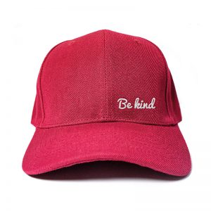 Be Kind in Wine Red Embroidered Cap, Custom our iTee template and make it yours. Product View