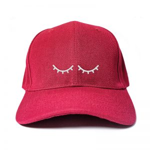 I'm Sleeping in Wine Red Embroidered Cap, Custom our iTee template and make it yours. Product View