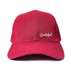 Grateful in Wine Red Embroidered Cap, Custom our iTee template and make it yours. Product View