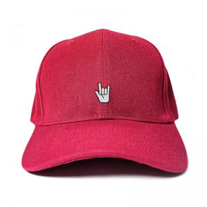 Let's Rock and Roll in Wine Red Embroidered Cap, Custom our iTee template and make it yours. Product View