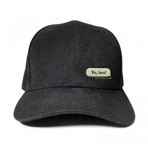 My Message in Black Embroidered Cap, Custom our iTee template and make it yours. Product View