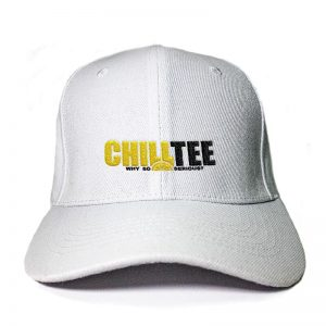 ChillTee Logo in White Embroidered Cap, Custom our iTee template. Product View